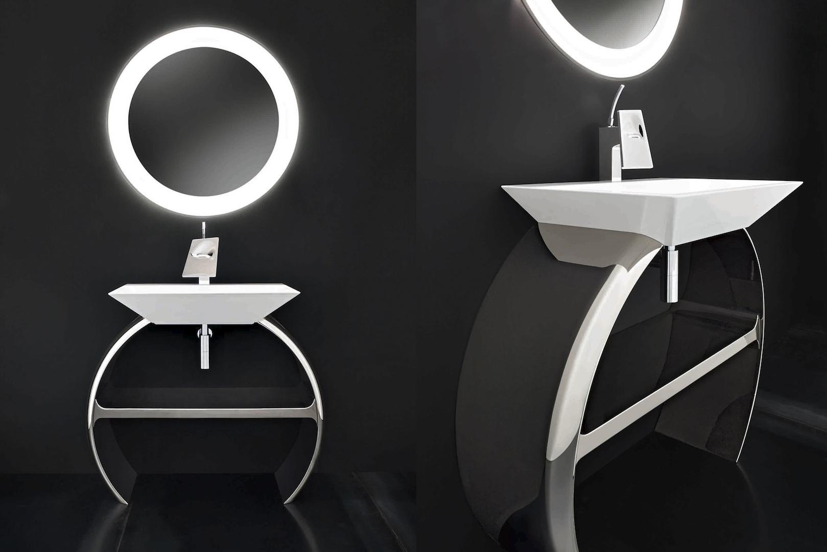 Moon la sala da bagno romantica che guarda la luna for Sala da bagno design