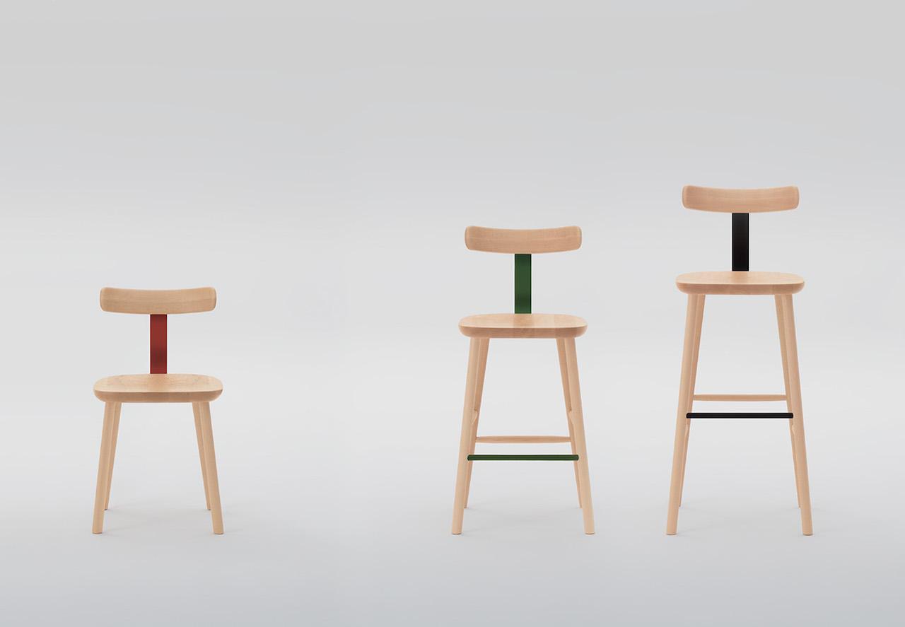 t chair e o stool le nuove sedie firmate jasper morrison. Black Bedroom Furniture Sets. Home Design Ideas