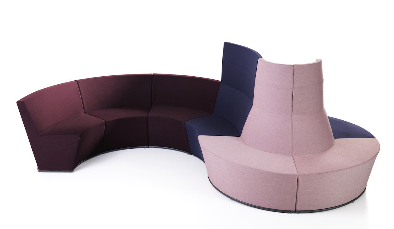 I divani componibili per uffici di lammhults for Divani componibili