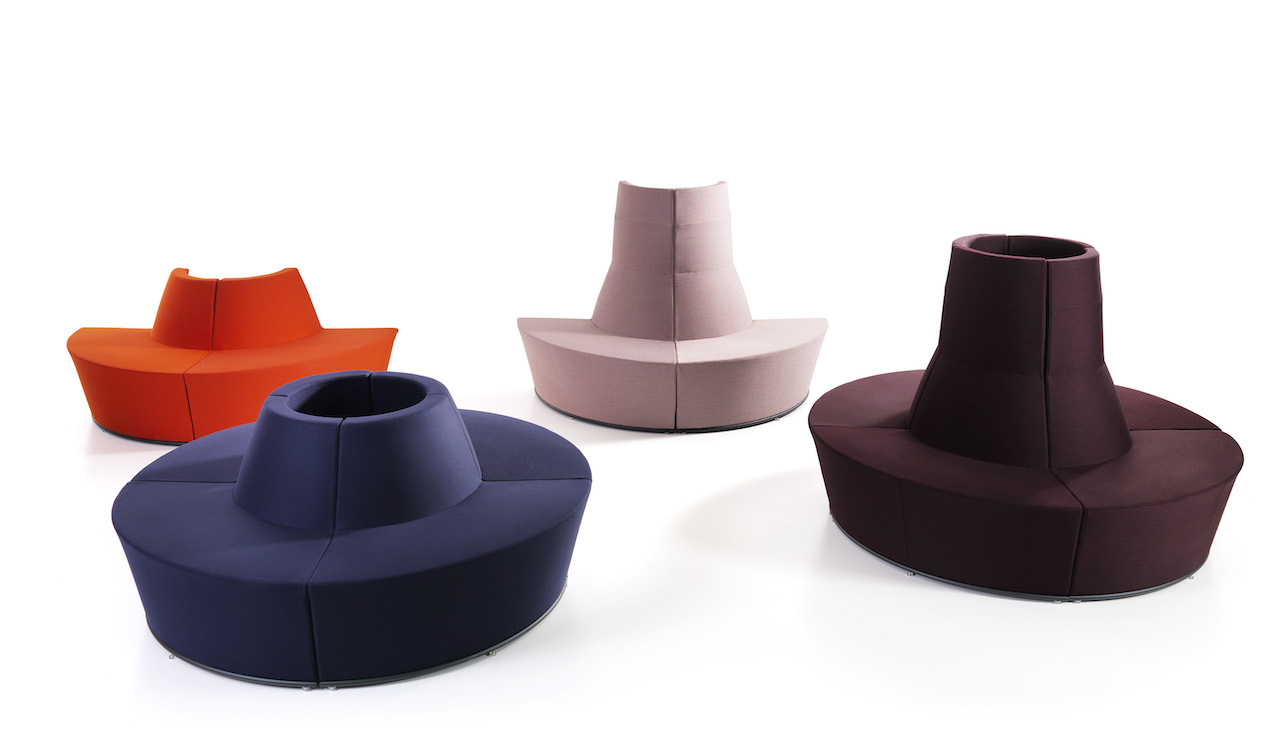 I divani componibili per uffici di lammhults for Divani componibili divani e divani