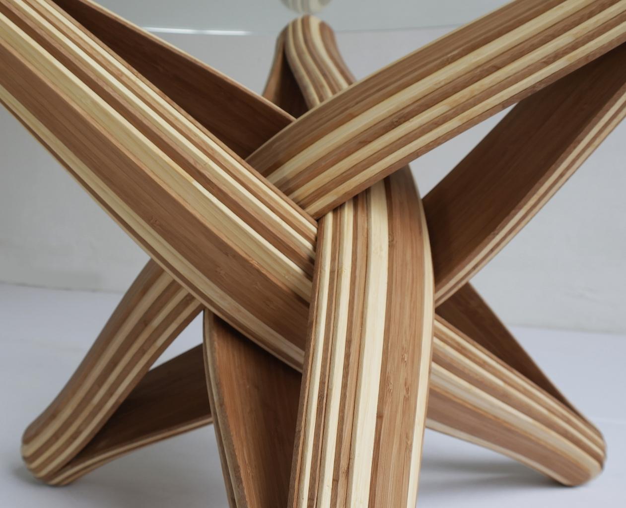 Lock Il Tavolo Lamellare Ad Incastro In Bambu