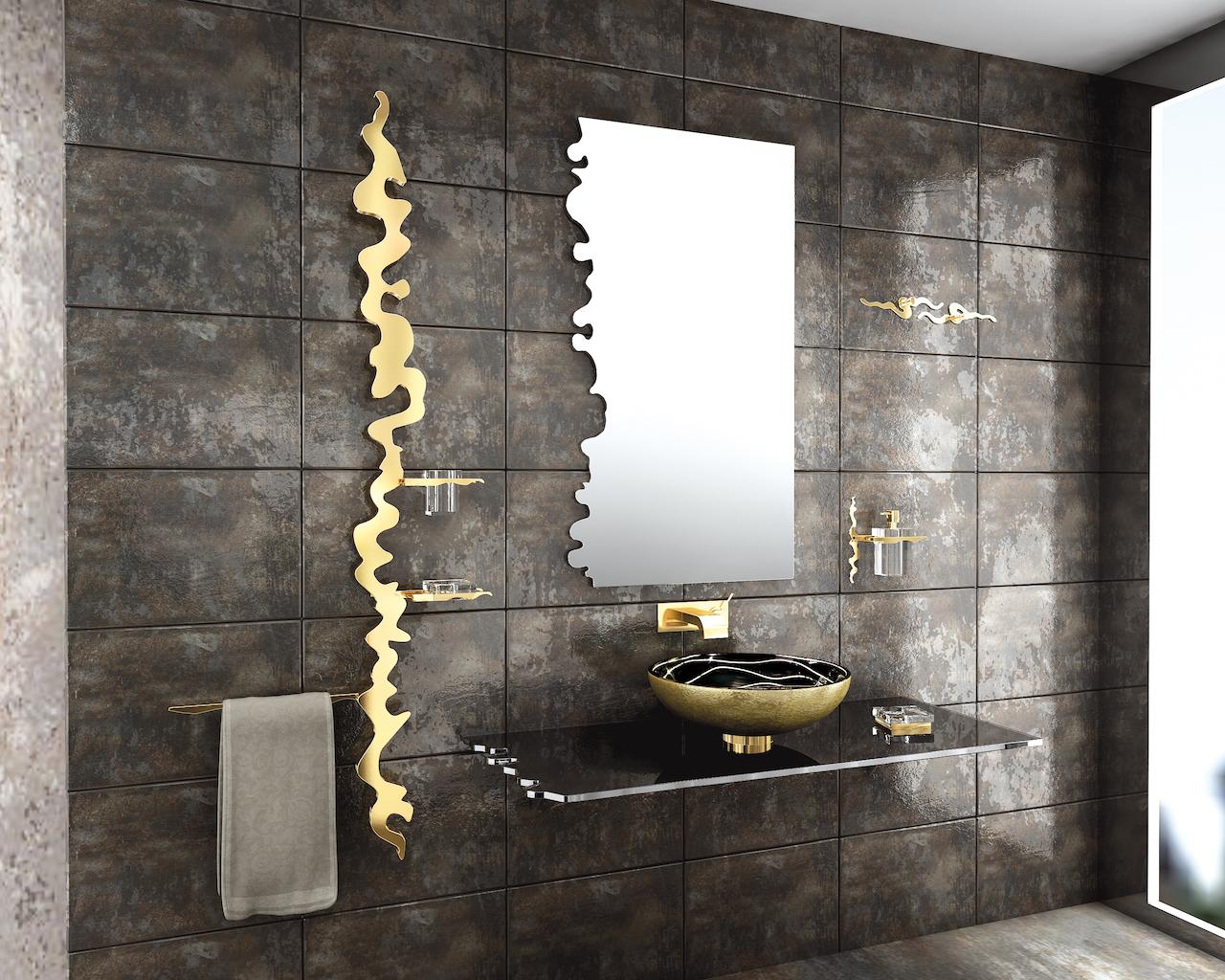 Tre linee di insoliti accessori bagno - Accessori bagno oro ...
