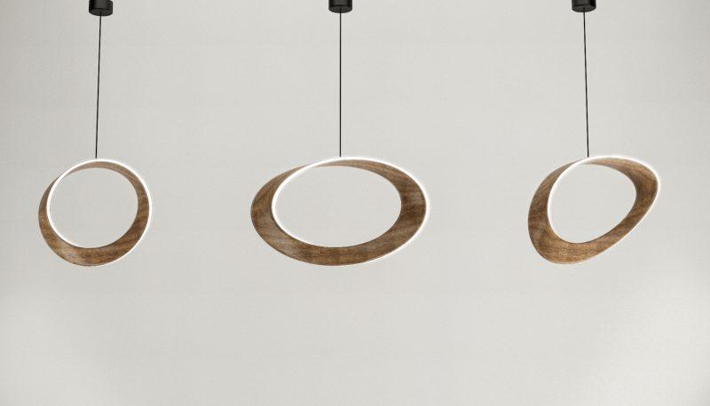 M-Lamp, lampada in legno