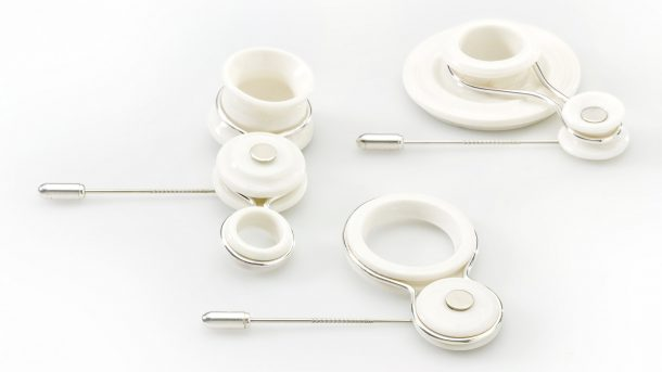 gioielli in ceramica e argento