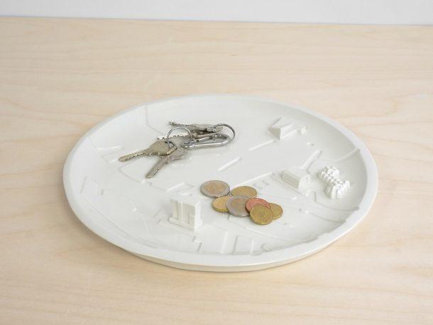 Rotterdam city plate, la città dentro un piatto in ceramica