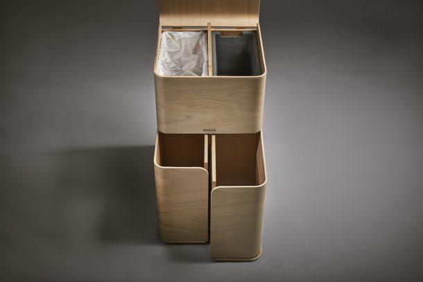 Dwiss, il comodo ed elegante cestino sostenibile