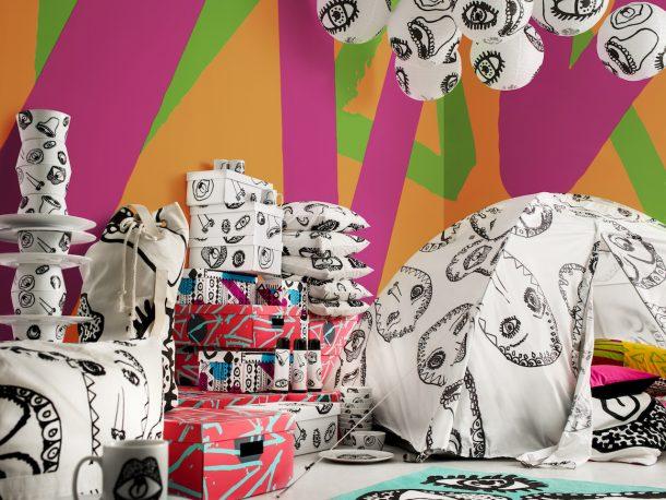 Jassa e Spridd, i colori e le fantasie delle esclusive limited edition di Ikea