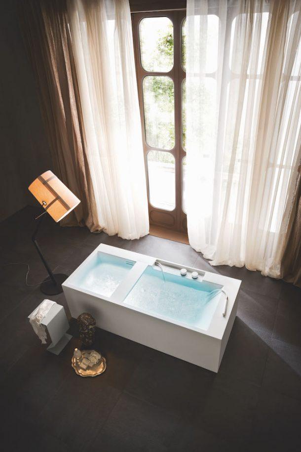 Le vasche free standing dal design essenziale di Rexa Design
