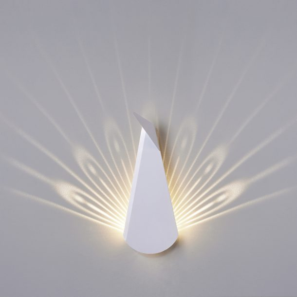 Peacock, lampada origami