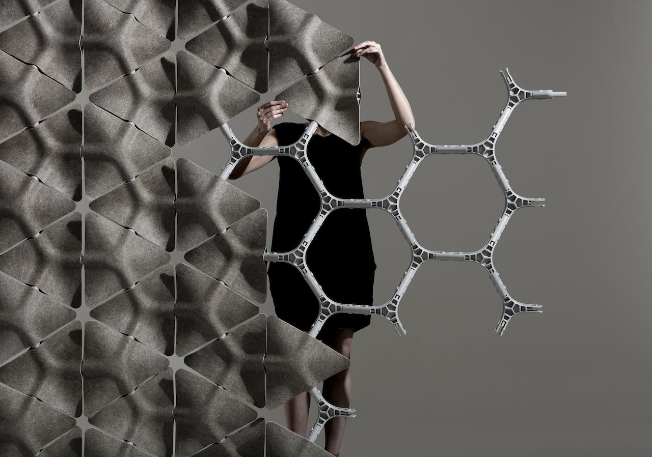 Pareti Divisorie In Tessuto : Scale la parete divisoria modulare che da vita al tessuto