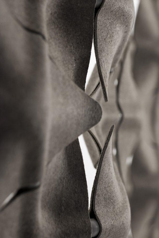 Scale, la parete divisoria modulare che da vita al tessuto