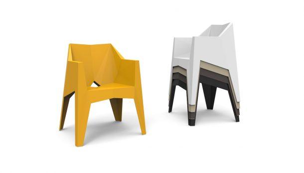 Voxel, la sedia geometrica di Karim Rashid