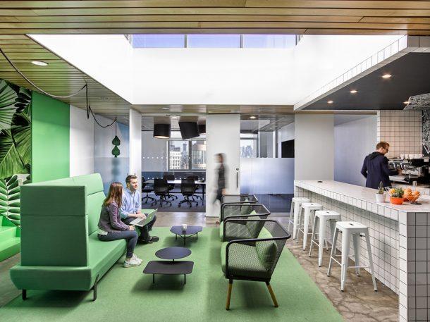 L allestimento d ufficio d ispirazione atlantica design for Allestimento ufficio