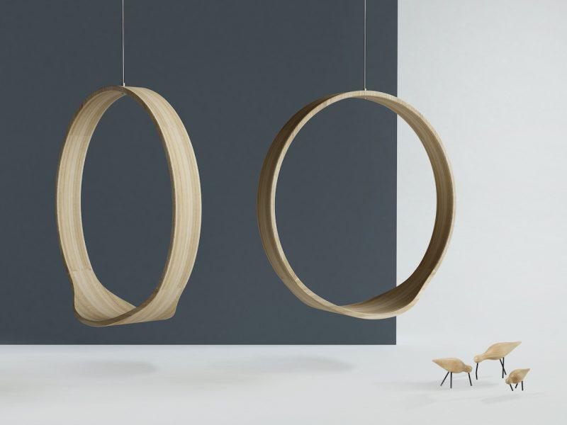 Swing, la sedia a dondolo completamente in legno