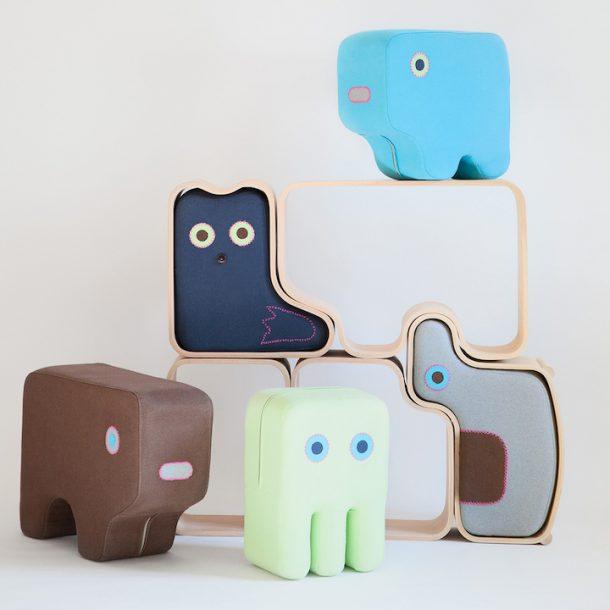 animaze animali pouf