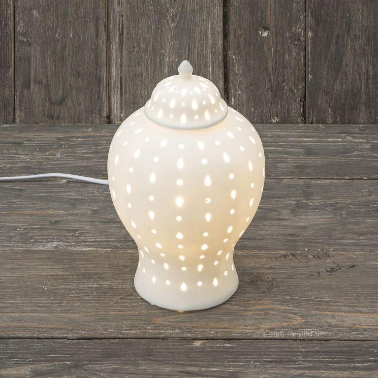 lampade in porcellana di Henriette