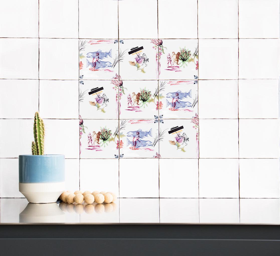 Le piastrelle per bagno e cucina che raccontano storie for Piastrelle cucina decorate