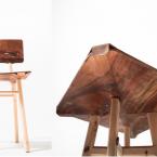 Impiallacciatura creativa su tavoli e sedie