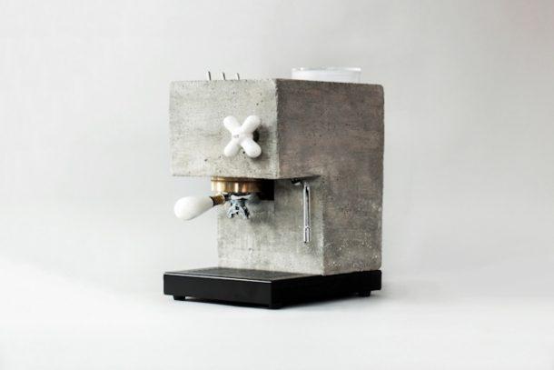 espresso machine in cemento