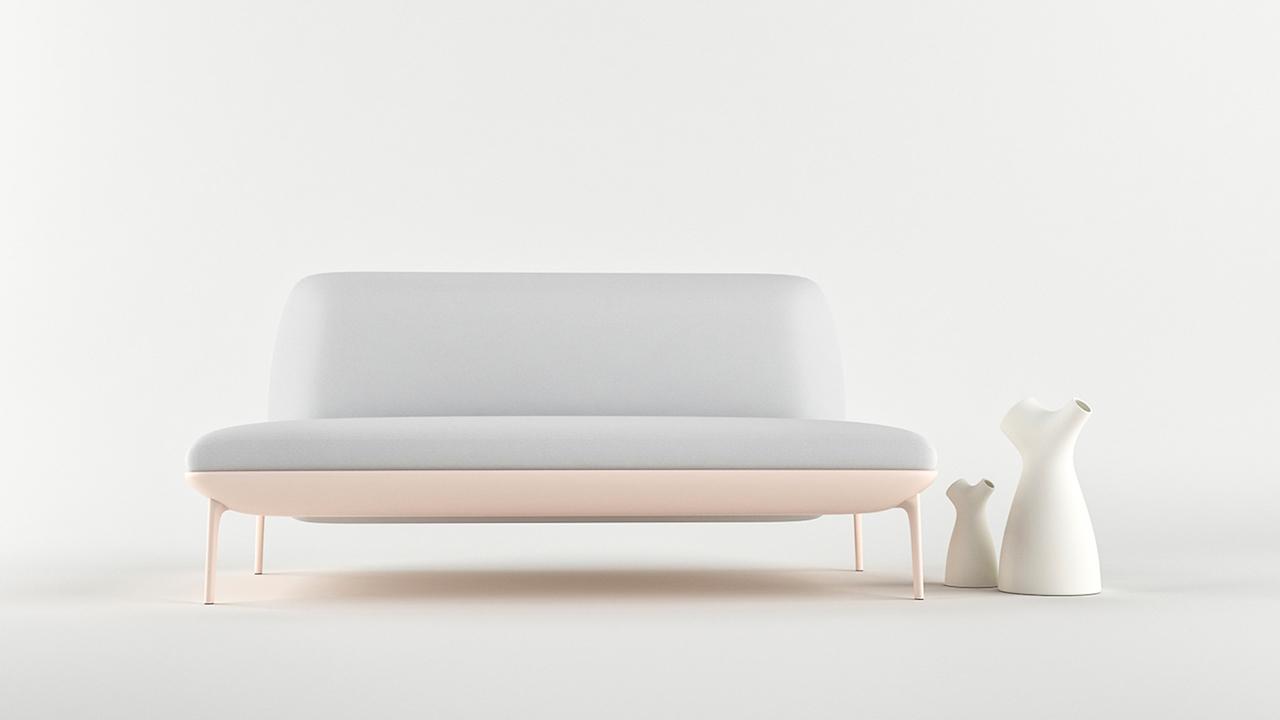 Beatle il divano minimalista con lo schienale girevole - Divano di istanbul ...