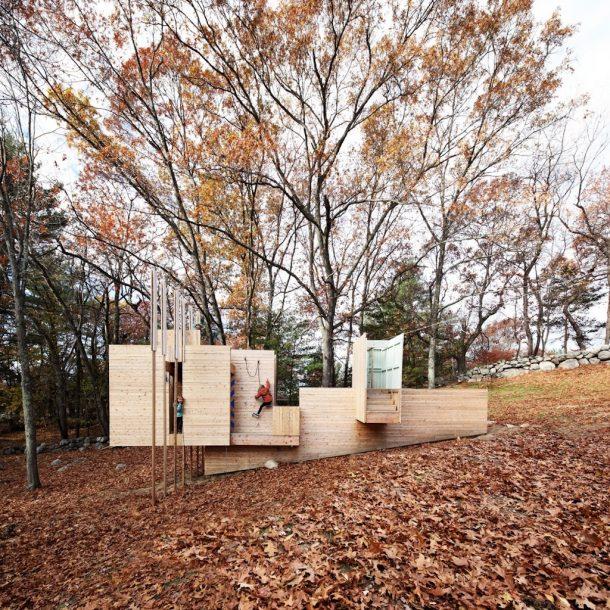 parco giochi in legno