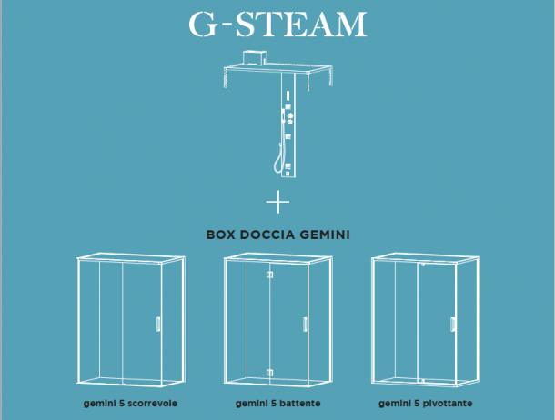 G-Steam, l'hammam di Hafro-Geromin grande come una doccia