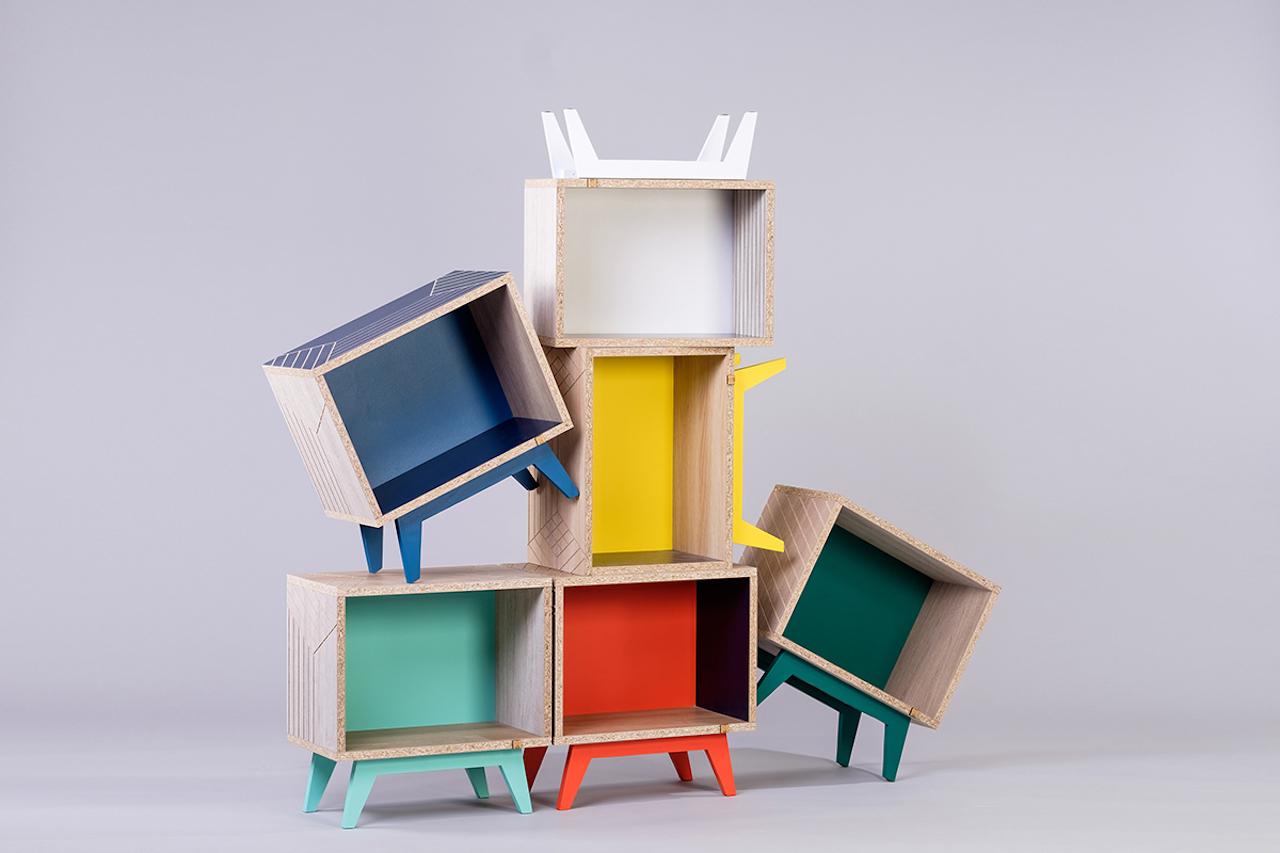 Il design francese in mobili contenitori componibili for Mobili contenitori design
