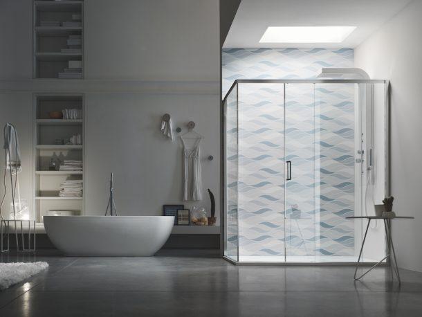 Aks shower il total look nel bagno anche nella doccia for Arcom bagno