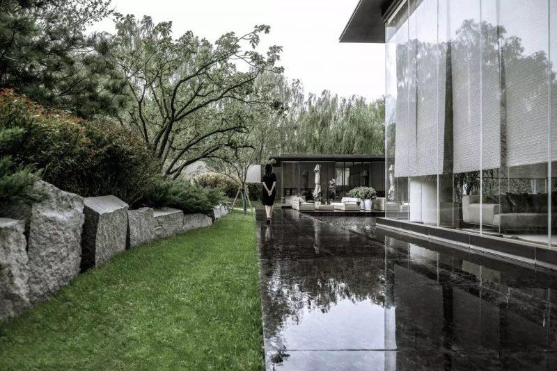 Il giardino zen di una villa a Pechino