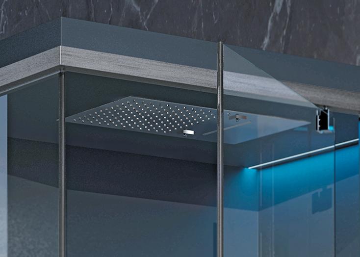Sistema Ethos C. Sauna, doccia, Hammam, di Hafro-Geromin