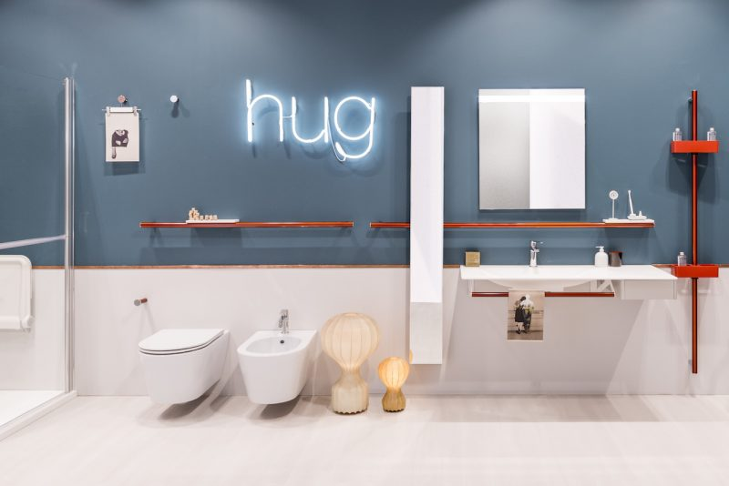 Sicurezza in bagno. Sistema Hug di Ponte Giulio