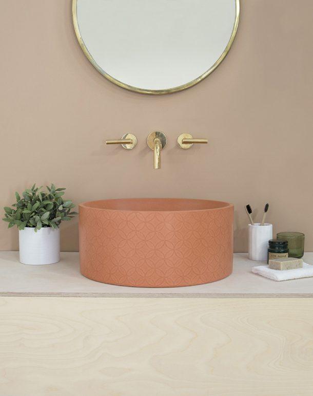 bagno in calcestruzzo
