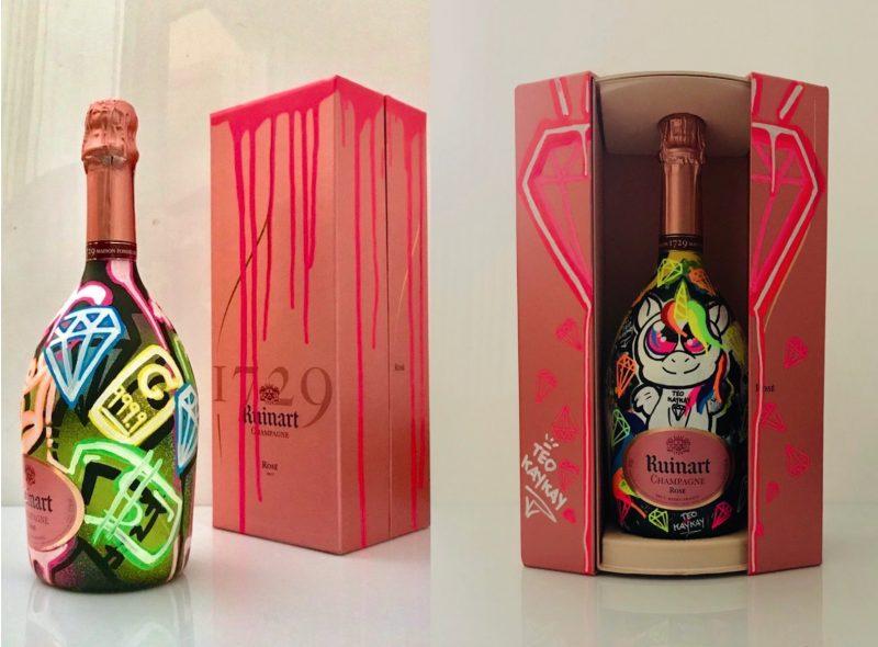 Champagne graffiti by Teo KayKay