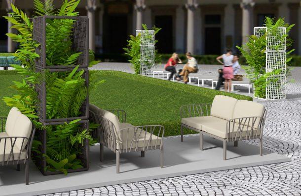 Sistema di sedute outdoor Komodo di Nardi