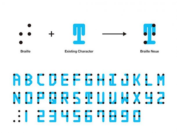 font braille