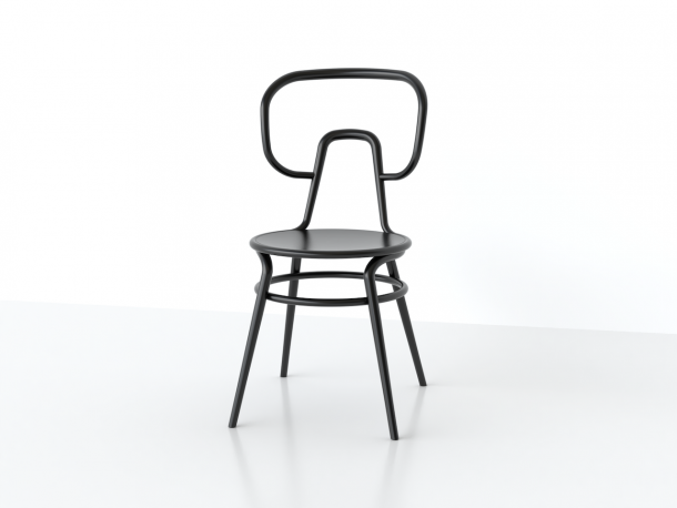 sedia in legno curvato