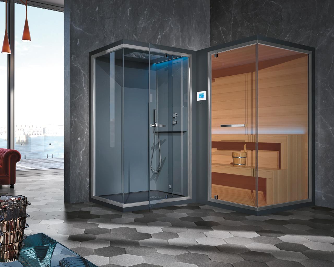 Ethos l una vera spa domestica per il total living bathroom