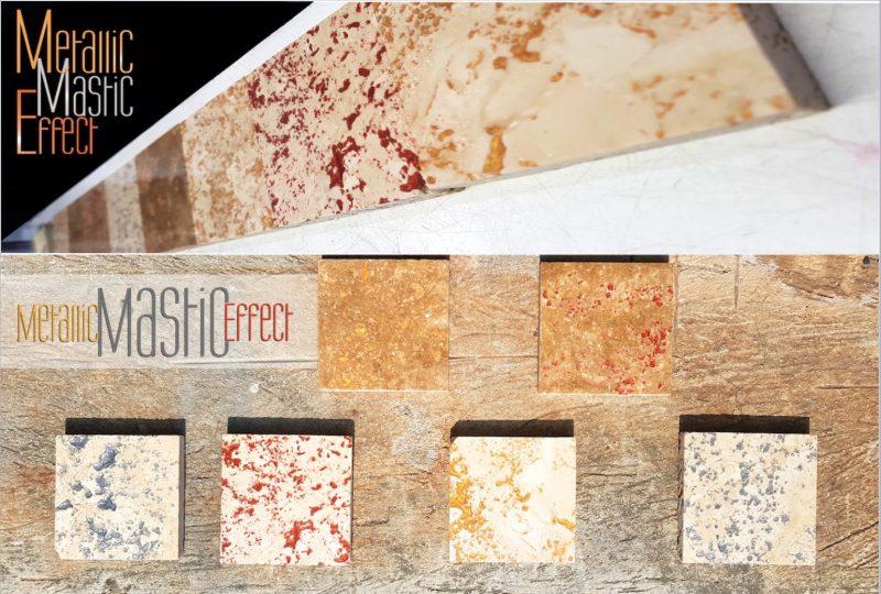 Il Mastice MME (MetallicMasticEffect) di ILPA è un prodotto innovativo in quanto non solo svolge la sua funzione di collante ma, grazie alle sue caratteristiche estetiche, viene utilizzato anche a scopo decorativo.