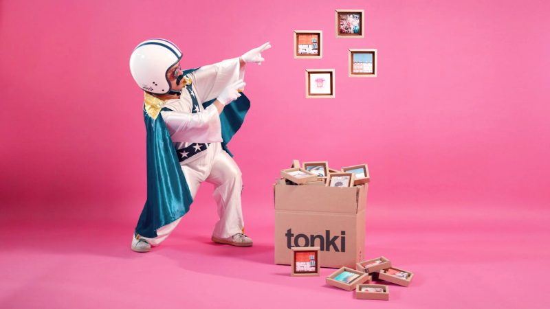 Tonki e tonki nano, le cornici in cartone