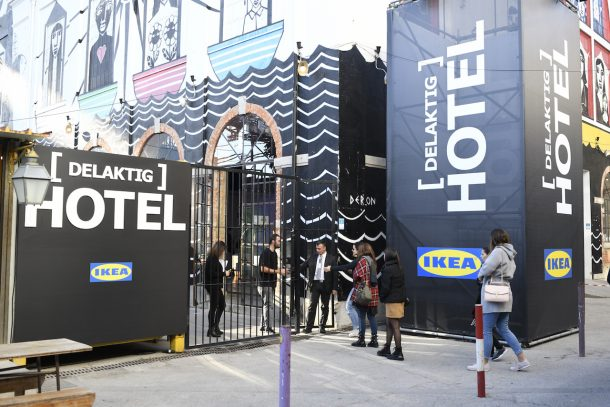 Il pop up hotel Ikea Delaktig a Lisbona
