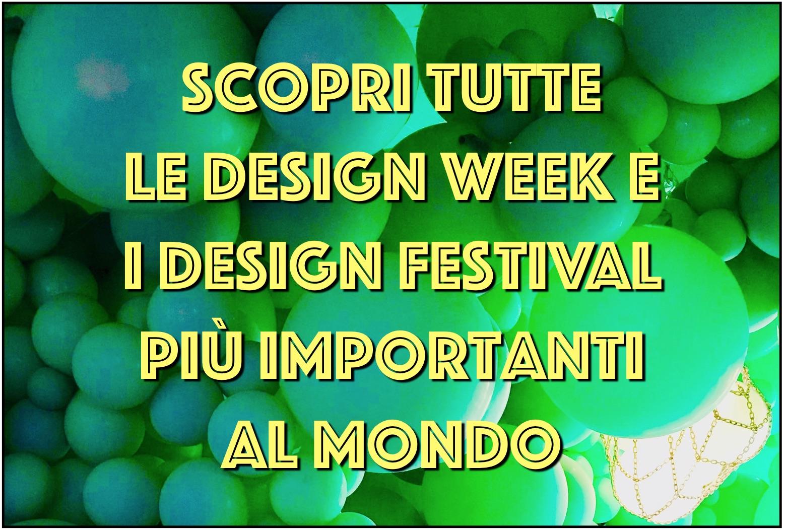 Calendario Mese Di Maggio 2020.Il Calendario Dei Piu Importanti Design Festival 2019