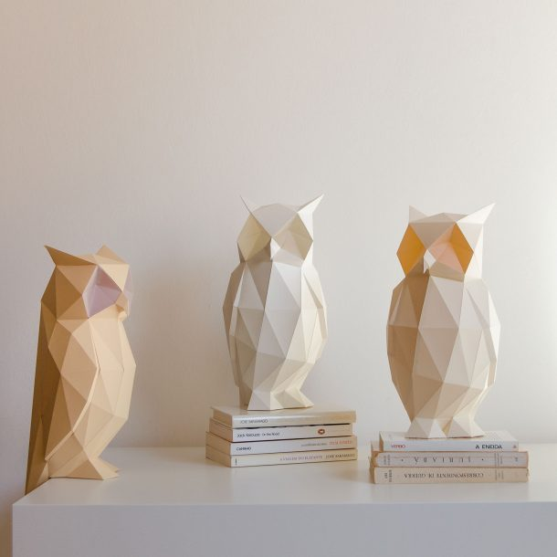 Owl paperlamp, le lampade in carta origami a forma di animale
