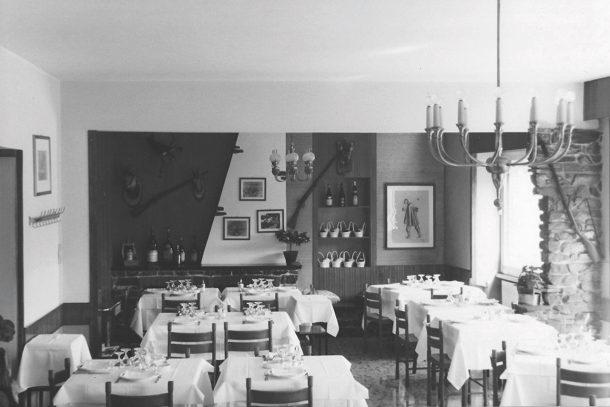 Il ristorante Cacciatori a Cartosio
