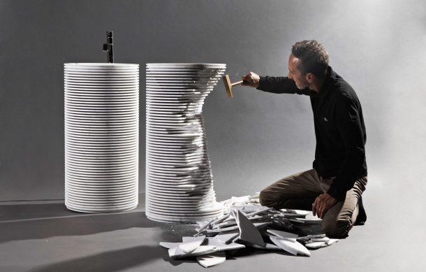 Il lavabo Introverso di Paolo Ulian per antoniolupi