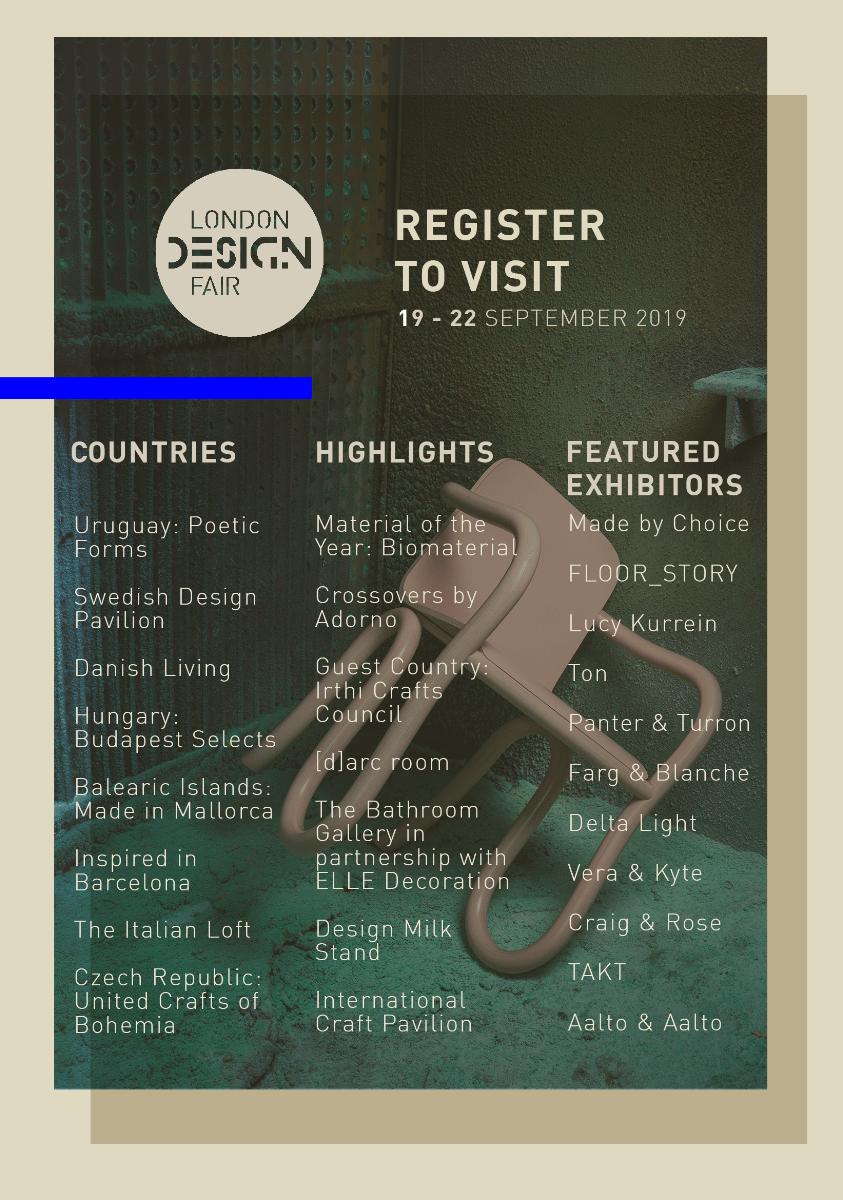 London Design Festival 2019. London Design Fair