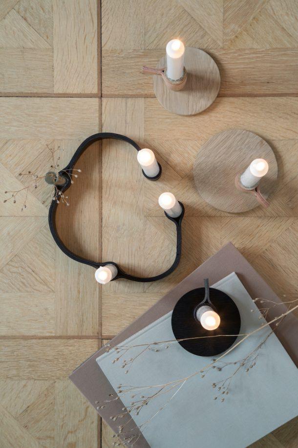 portacandele di design. Belt 4 Candles, by Wirth