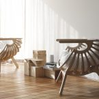 Shell lounge chair di Branca Lisboa