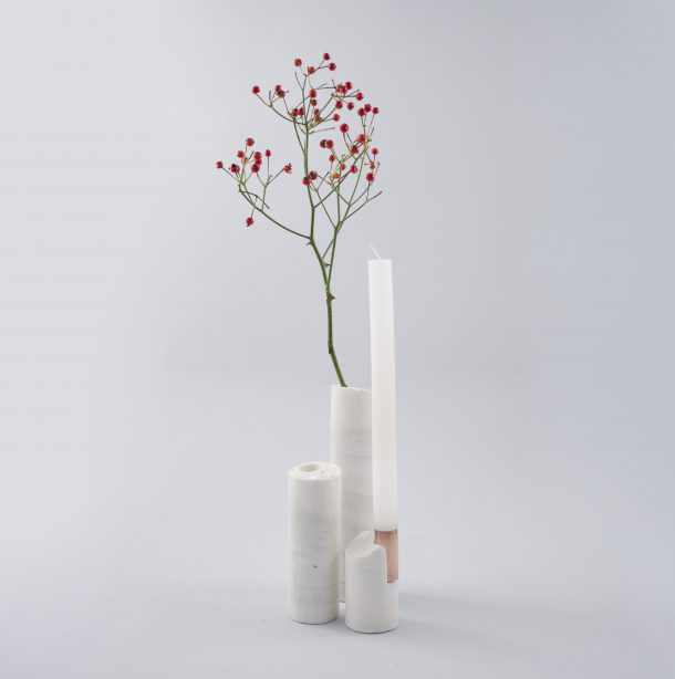 Il design che riutilizza gli scarti di lavorazione del marmo