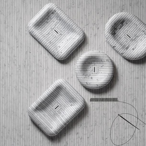 I lavabi della collezione Gessati di antoniolupi