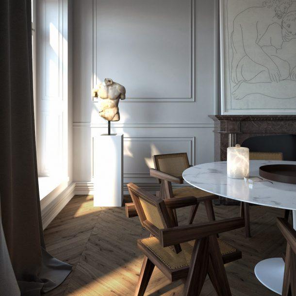 Le lampade in alabastro di Atelier Alain Ellouz.